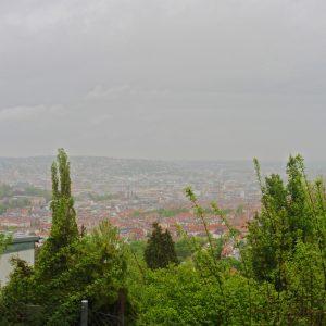 Blick über Stuttgart.